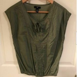 Gap Womens Cap Sleeve Green  Tunic  Size xsmall